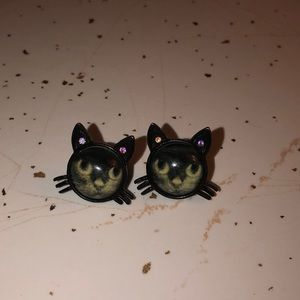RARE 💰 black kitties by BETSEY JOHNSON